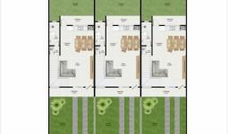 3 Sobrados, com 117m2, 2 dormitórios no Ambrósio, Garopaba - SC